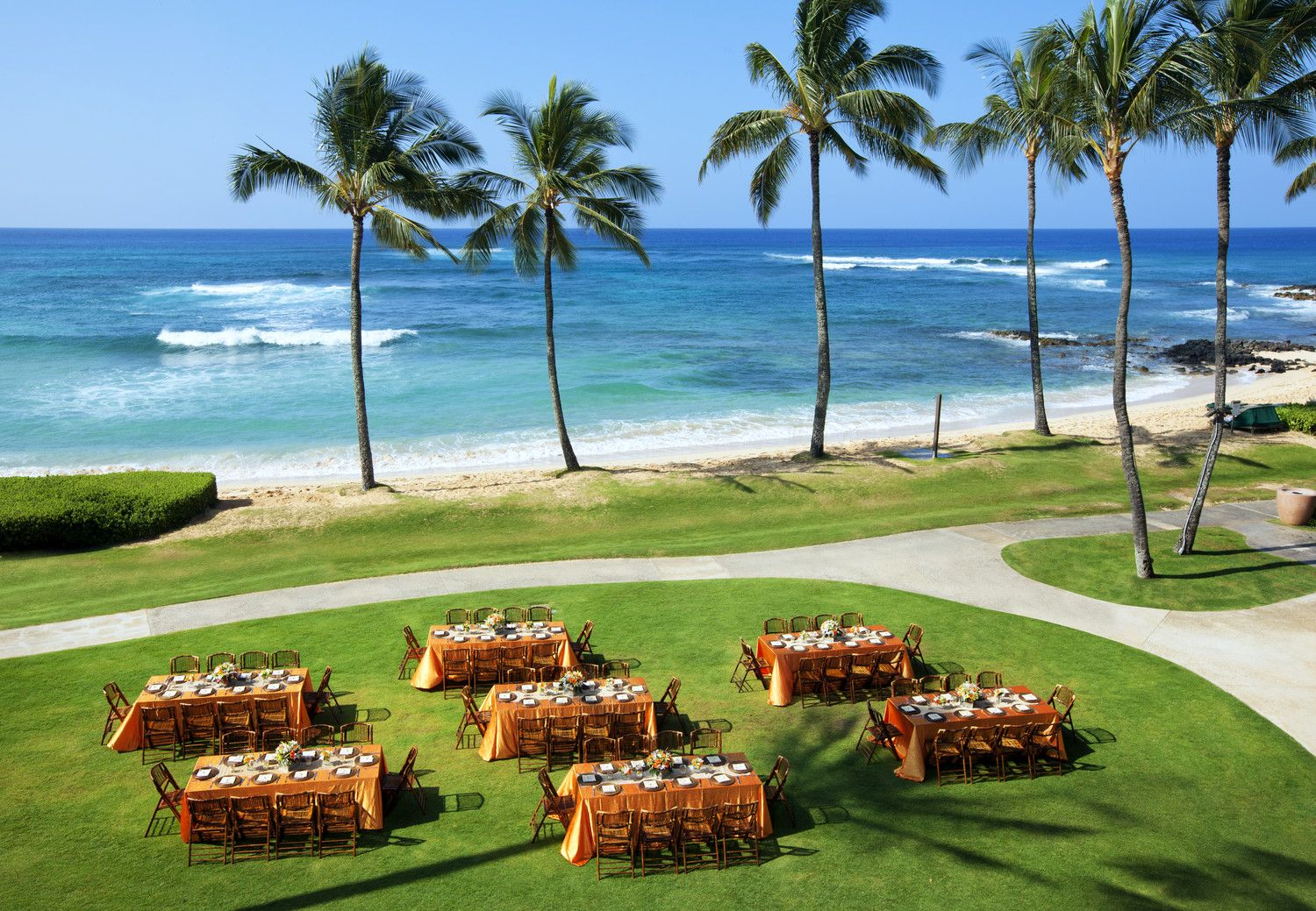 Kauai Meetings - Beach Lawn Reception