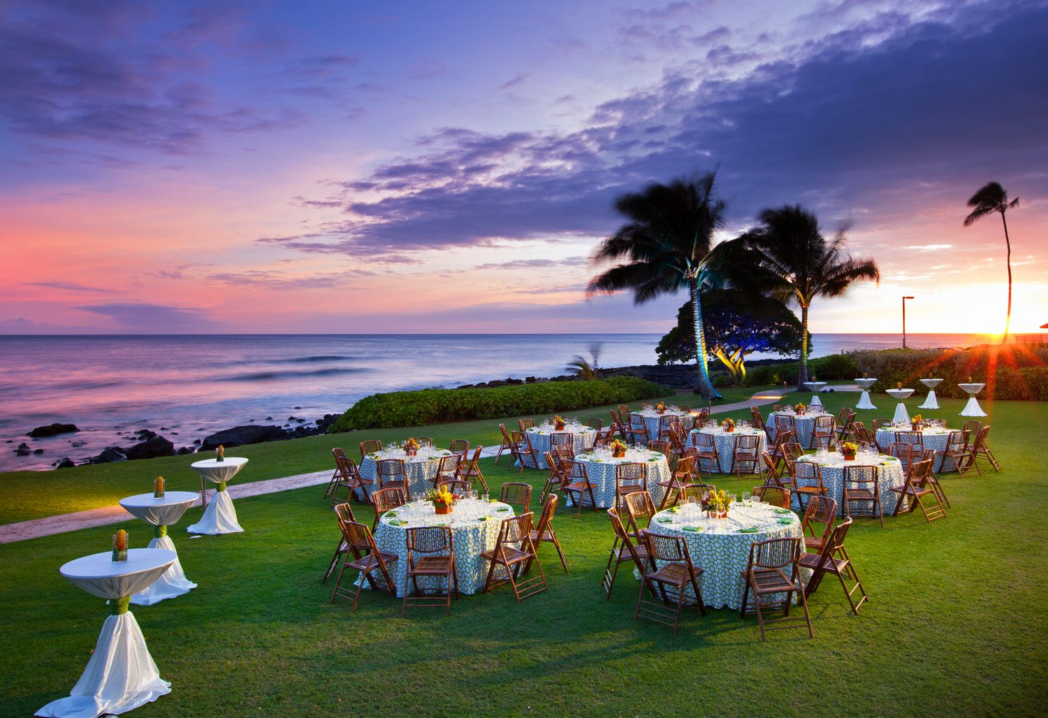 Kauai Beach Wedding - Ocean Cove Reception